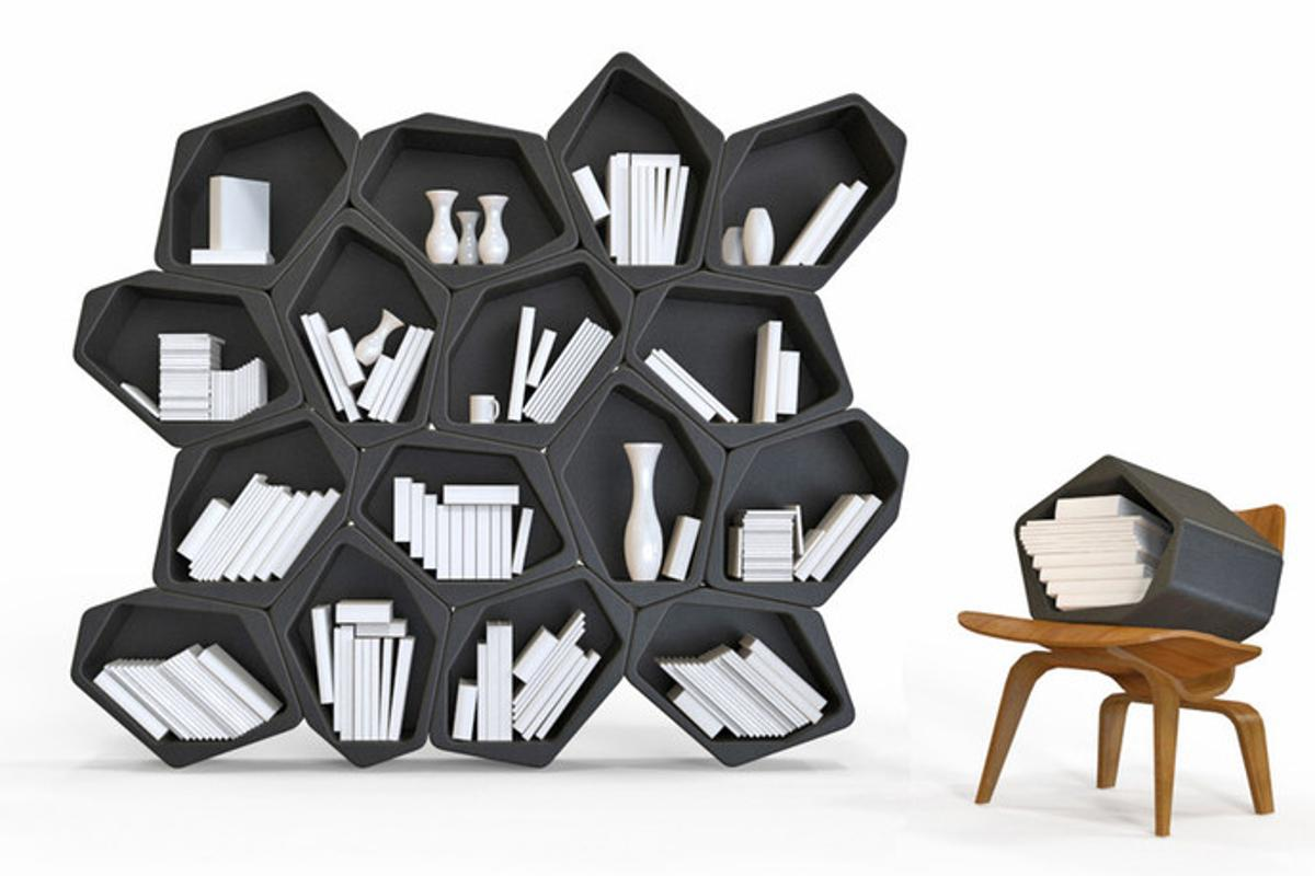 Build is a modular furniture system that comprises odd-shaped blocks that can be combined in various ways