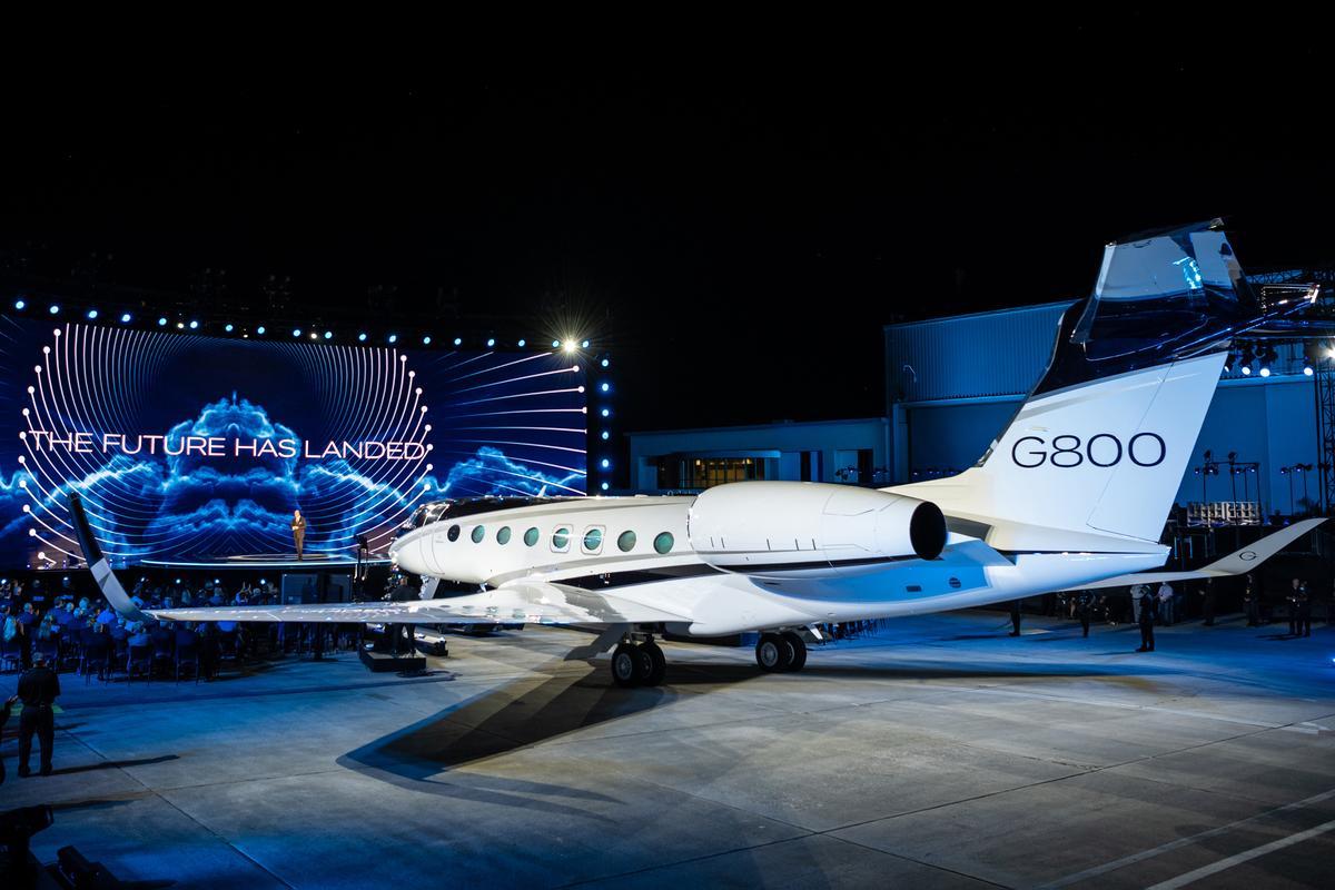 The G800 at the Gulstream presentation
