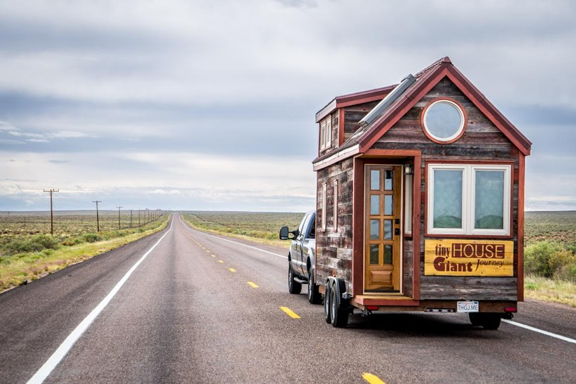 The couple put 22,000 miles (about 35,406 km) on their tiny home