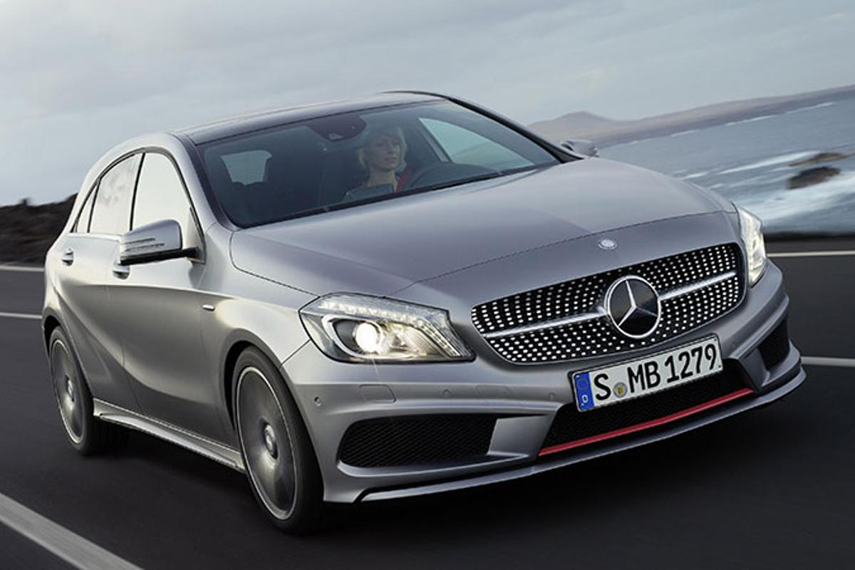 "The new Mercedes-Benz A-Class in ""AMG Sport"" exterior spec."