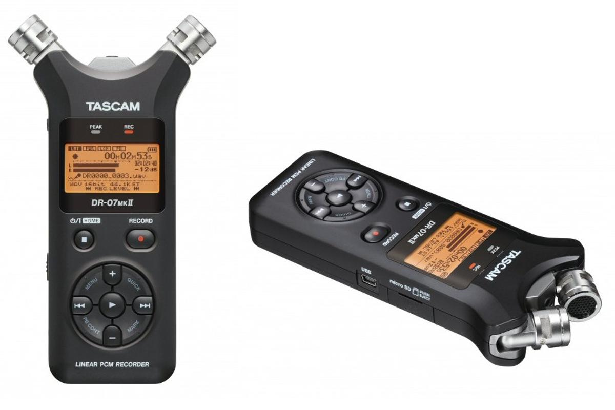 Tascam has announced a new handheld recorder where the pair of stereo microphones can be adjusted for XY or AB configurations
