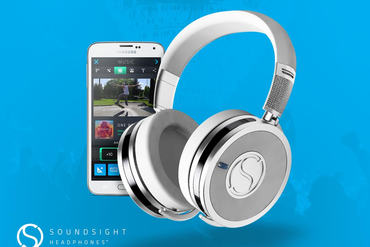 The Soundsight wireless headphones with video recording capabilities