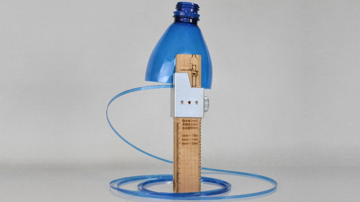 The Plastic Bottle Cutter helps repurpose bottles and spare the environment