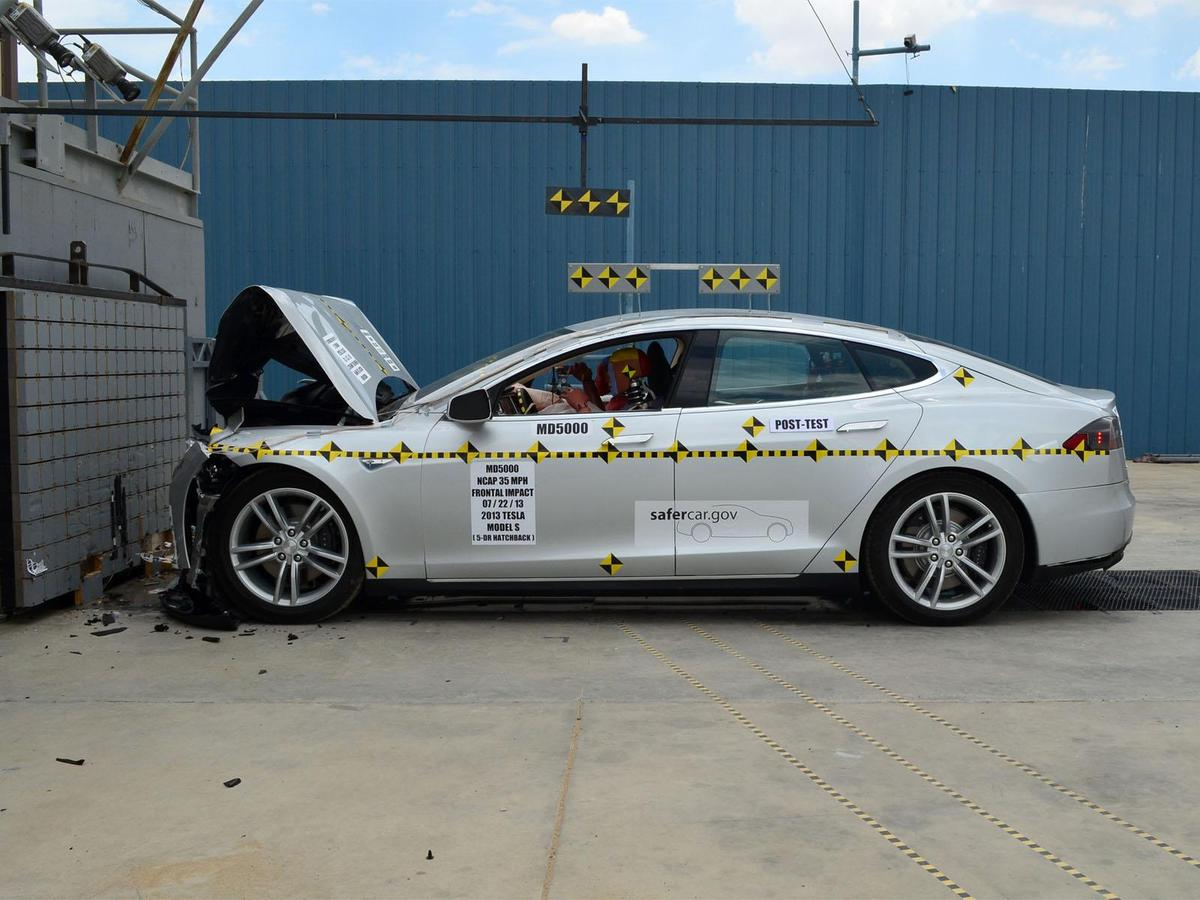 Tesla's Model S has achieved a 5 star NHTSA safety rating (Photo: NHTSA)
