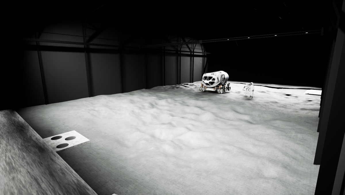 A virtual reality image shows what the Luna testing facility might look like