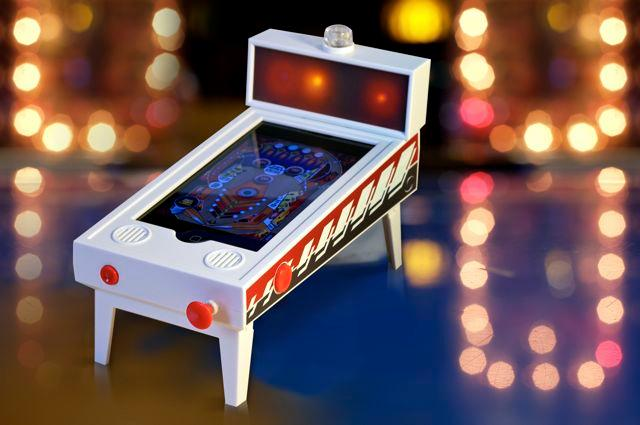"Pinball Magic is an ""(app)cessory"" that lets an iPhone or iPod touch operate as a miniature digital pinball machine"