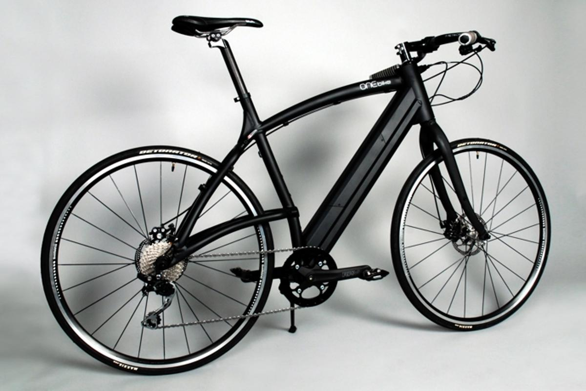 The ONEbike uses a frame-integrated battery