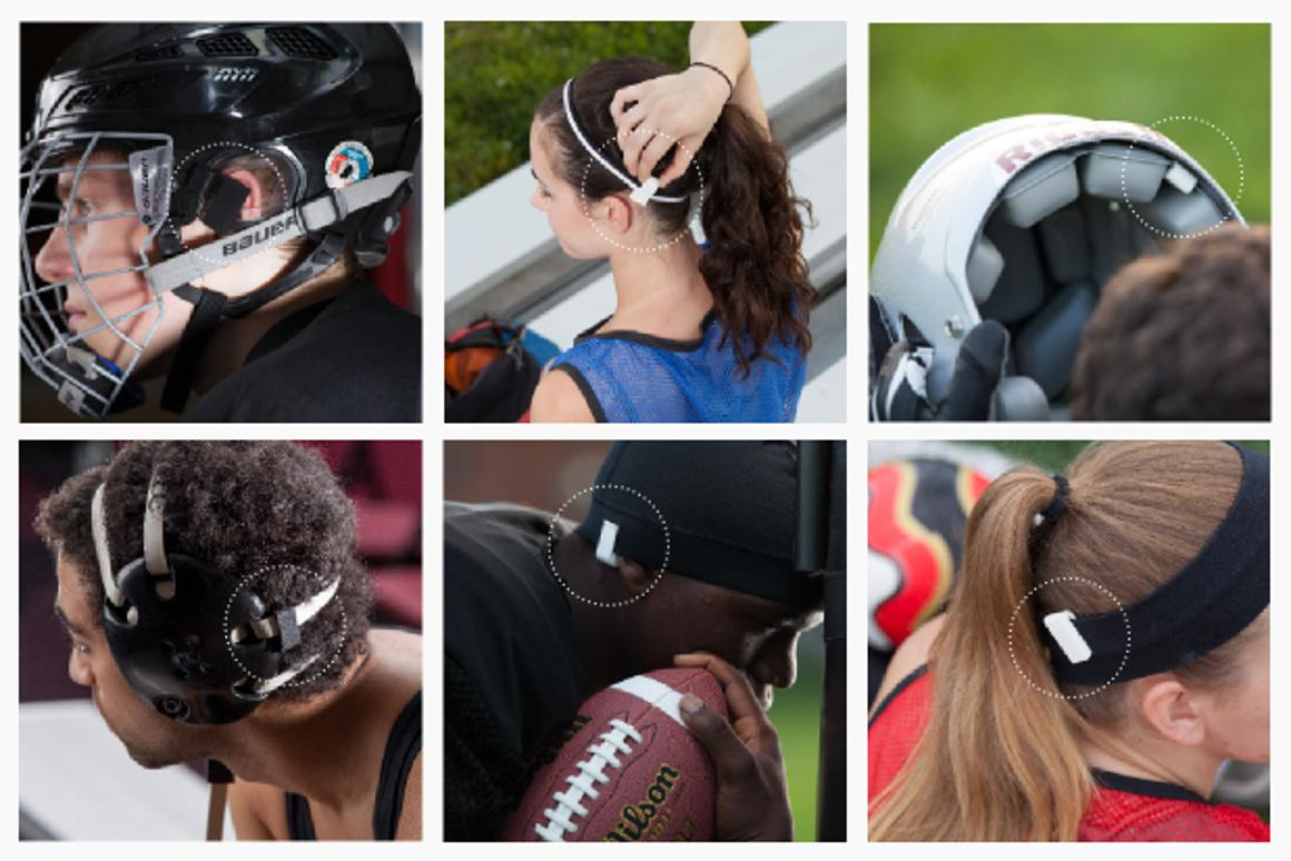 The Jolt Sensor is designed for sports where participants are at the risk of receiving a concussion