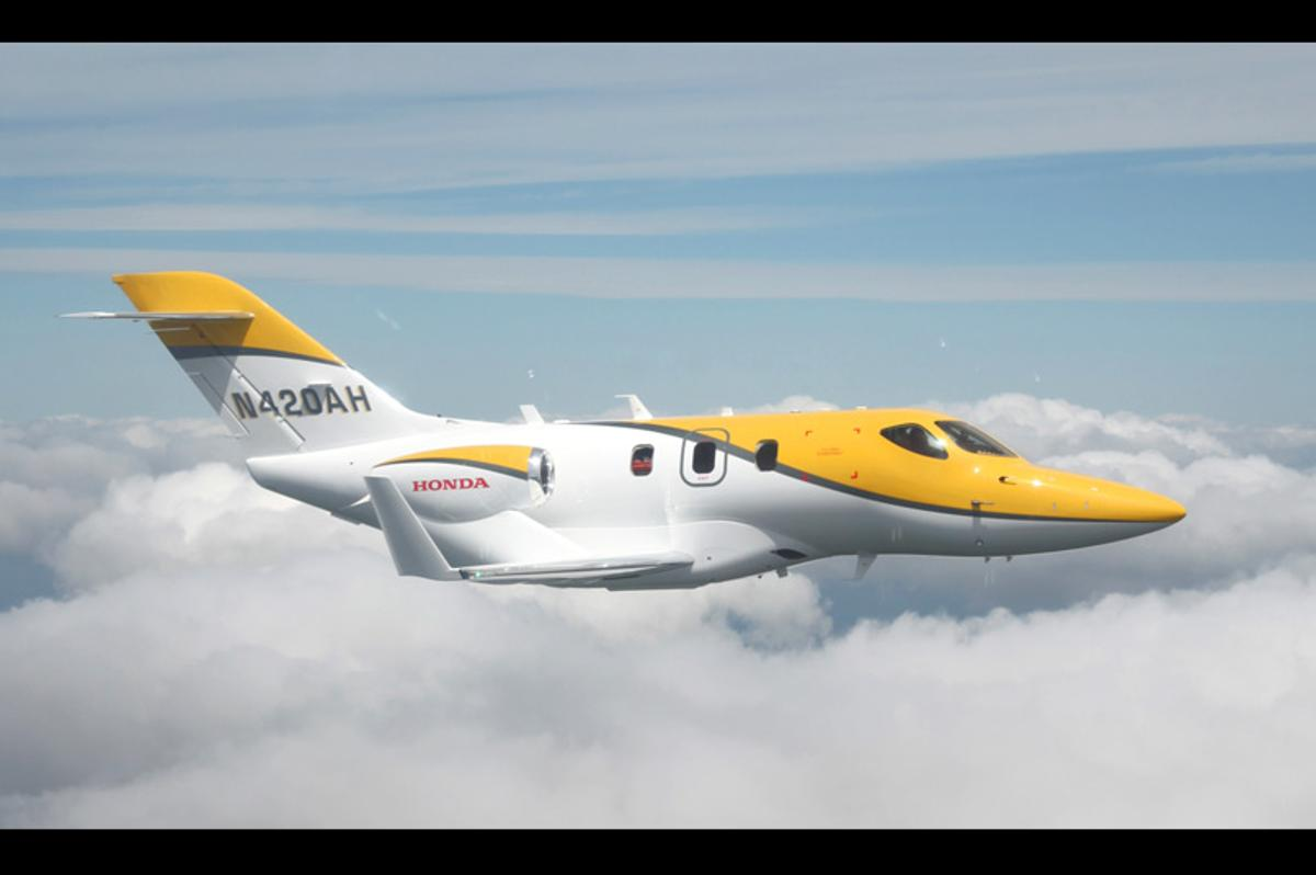 The HondaJet executive light aircraft