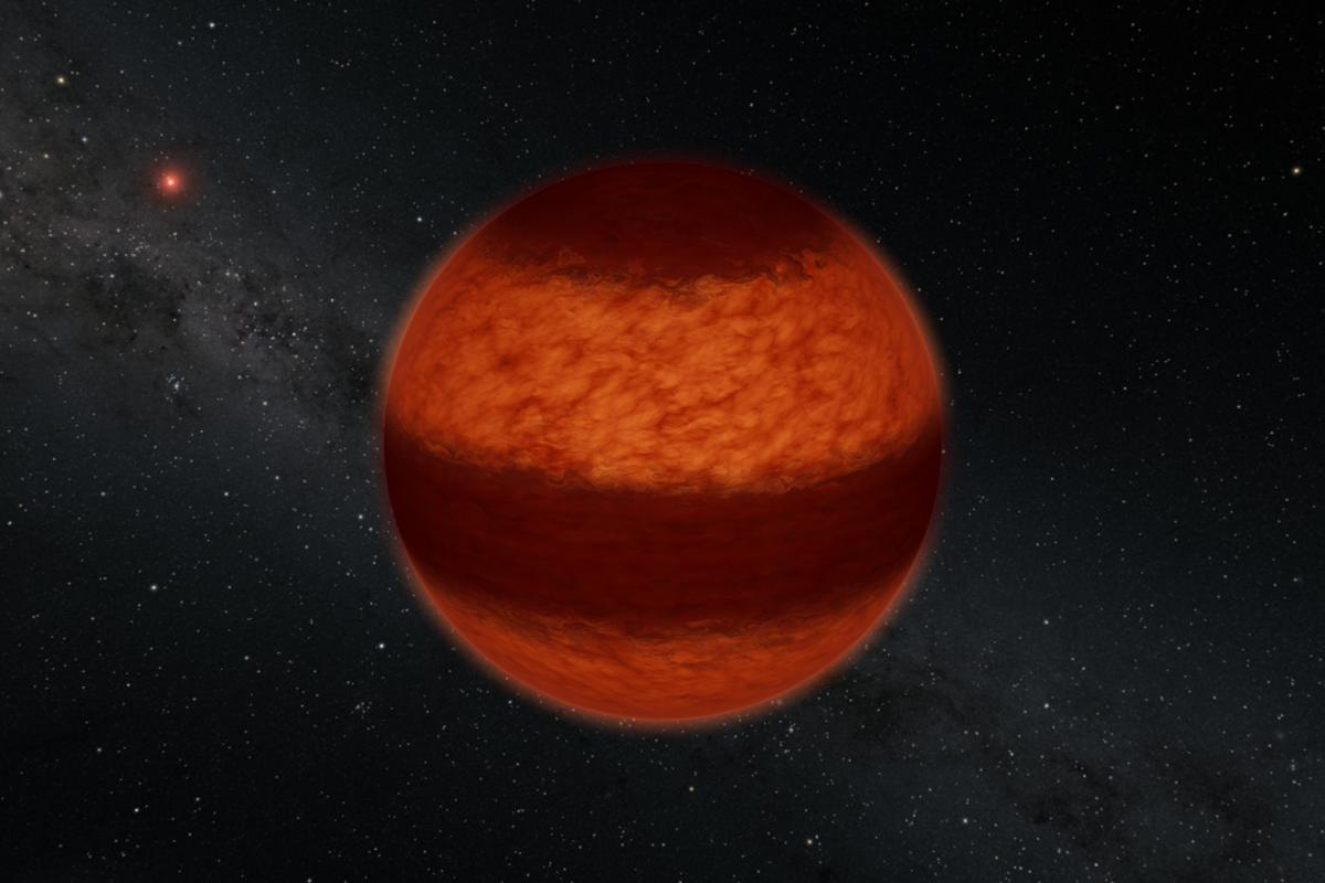 Using polarimetry, astronomers have detected cloud bands in the atmosphere of a brown dwarf