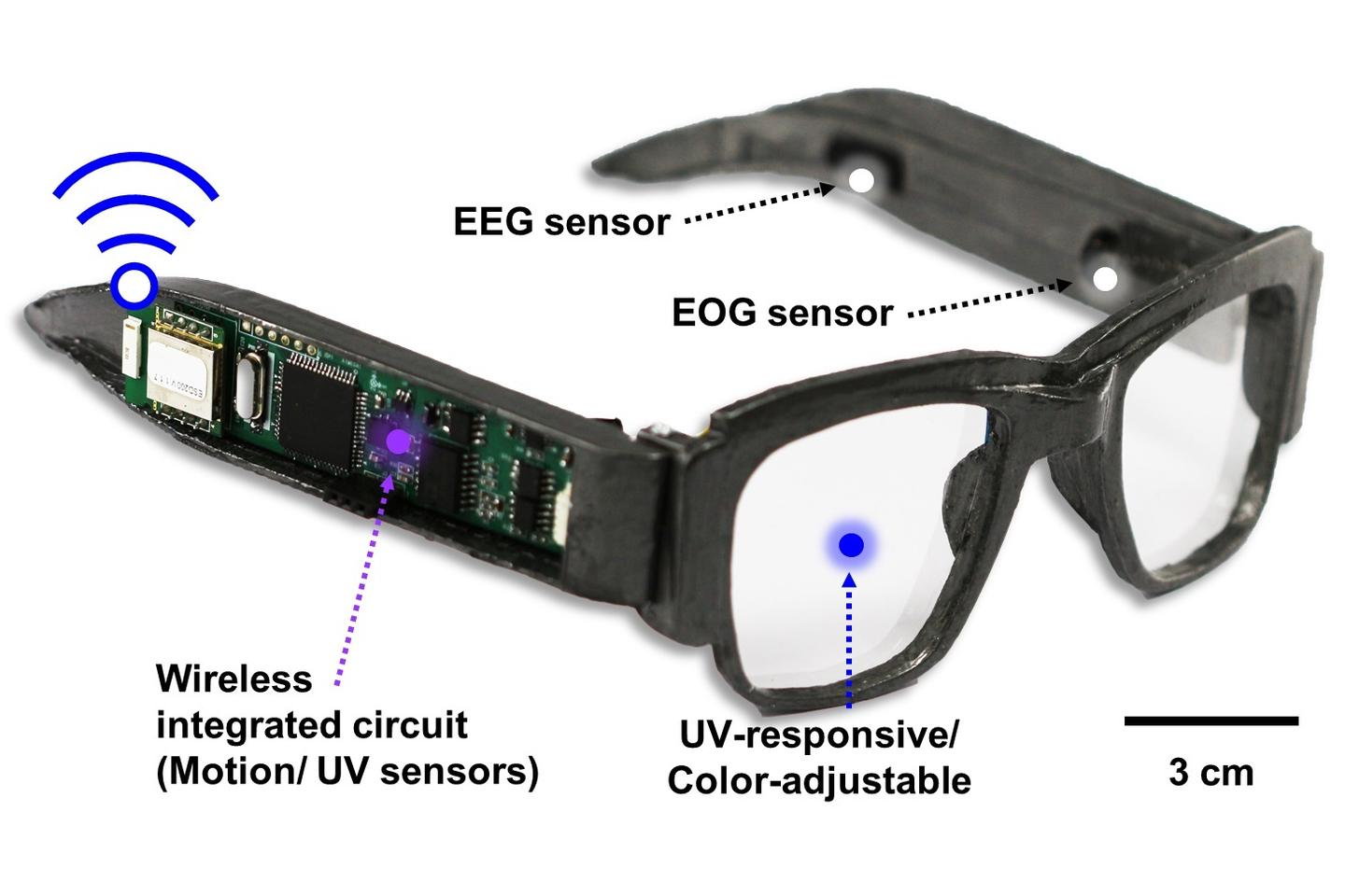 The prototype electronic glasses – there's currently no word on whether they may someday reach production