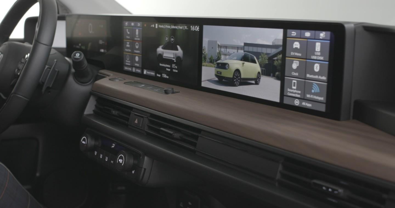 The Honda e's digital dash