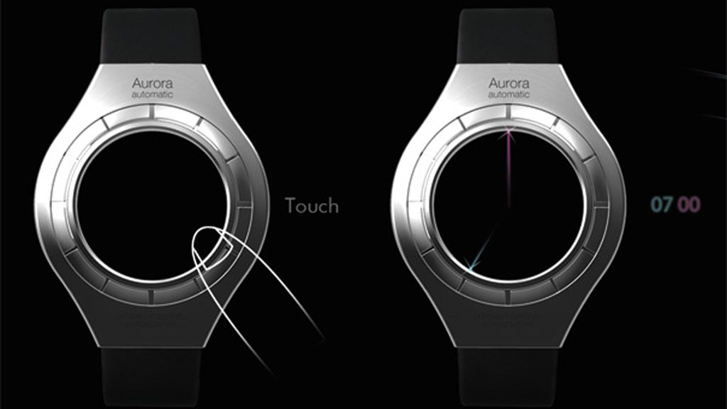 The lasers are activated by touching the bevel edge of the watch