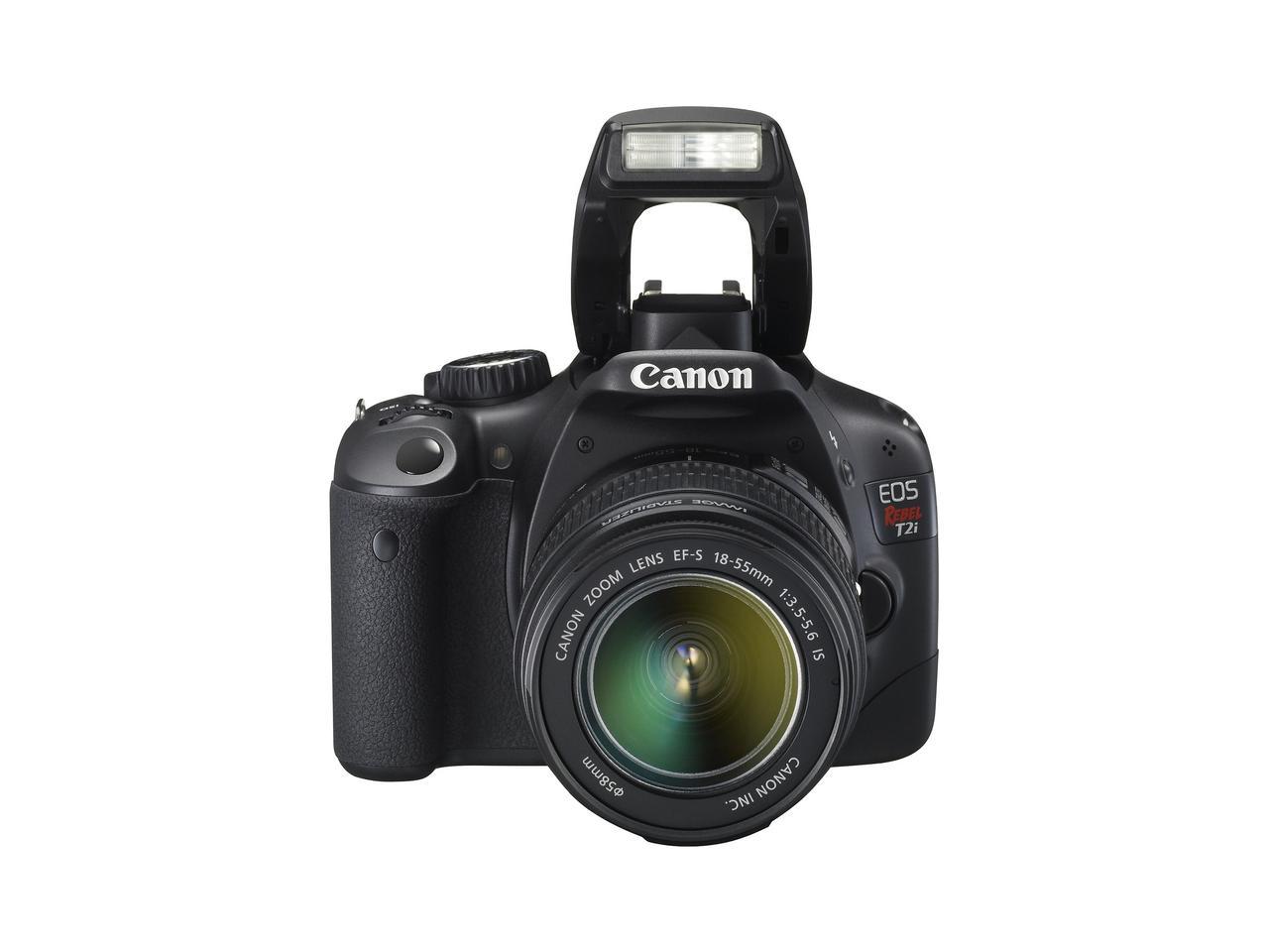 EOS Rebel T2i Digital SLR camera - Flash Open