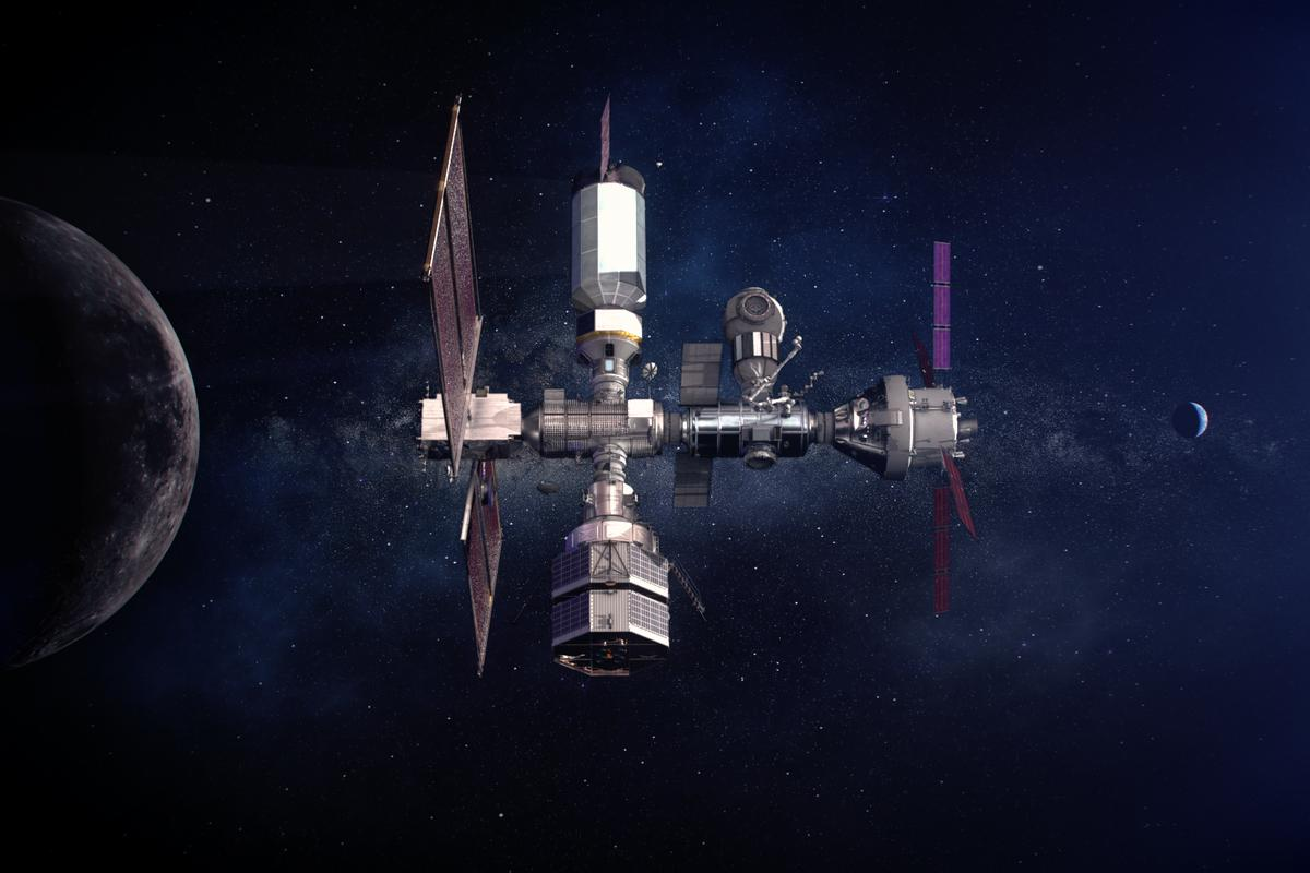 Artist's concept of the Gateway outpost