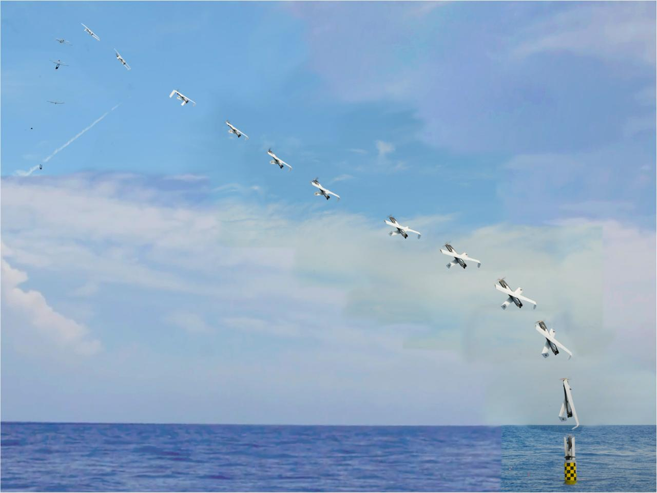 Sequence photo of the launch of the XFC (Photo: NAVSEA-AUTEC)