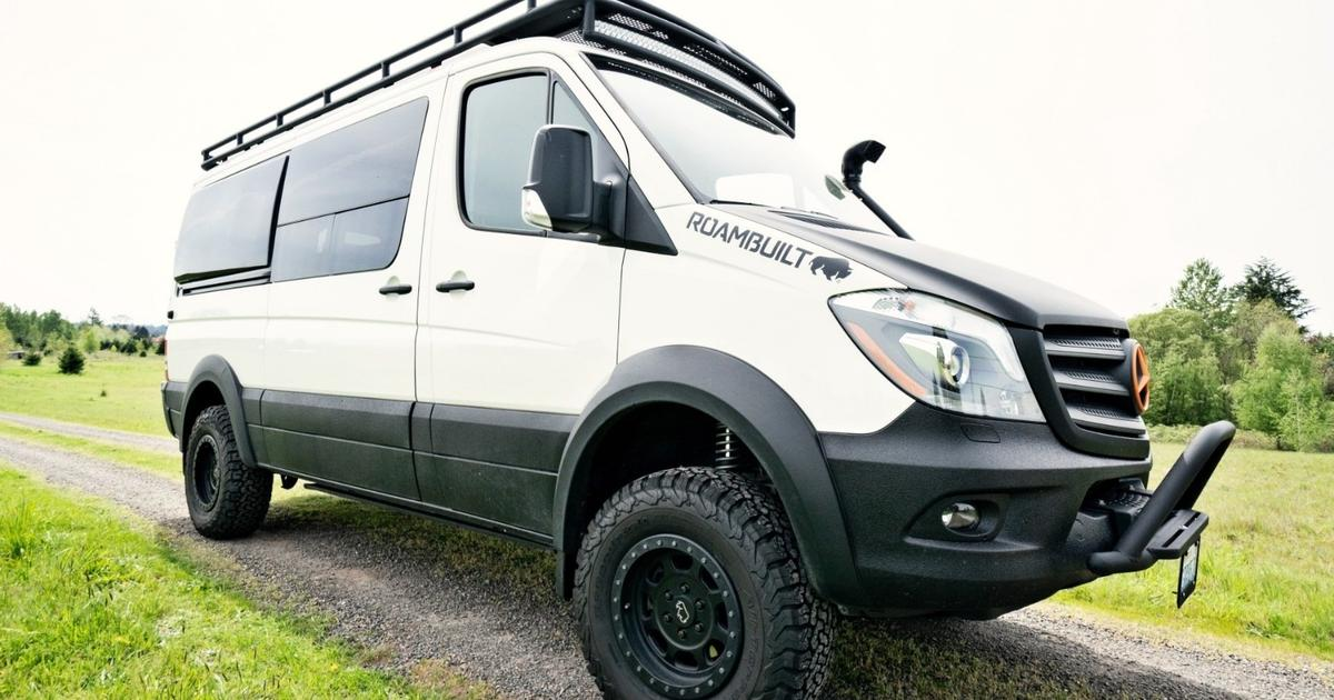 Swiss Army Sprinter camper van packs five people, solar power and plenty of gear