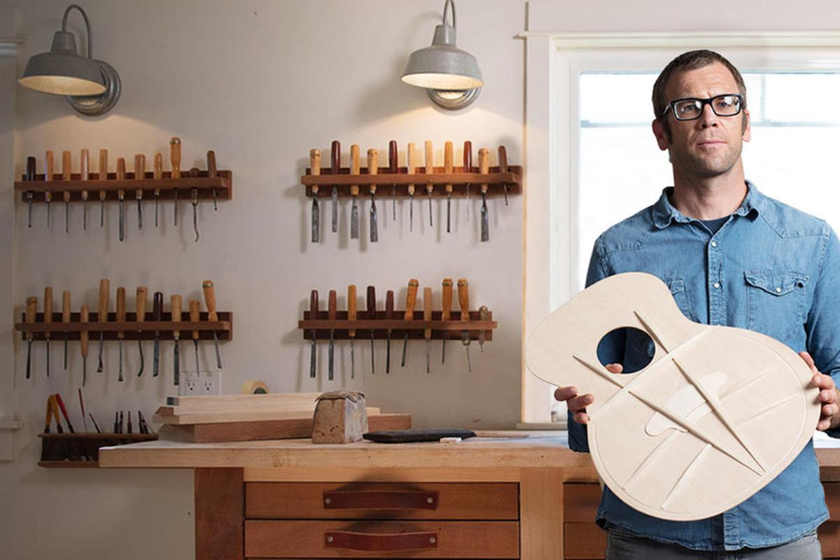 Taylor Guitars has redesigned acoustic guitar soundboard bracing for an instrument that doesn't trade off volume against sustain