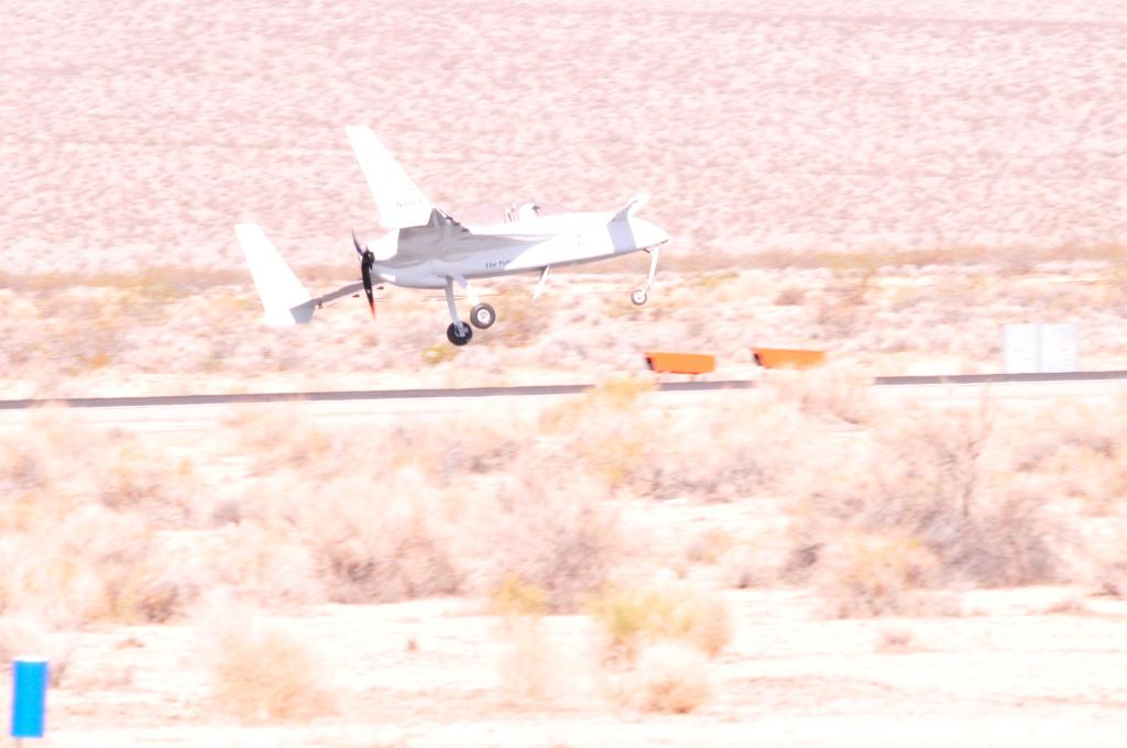 The Long-ESA making its record-breaking 202.6 mph flight above Inyokern Airport
