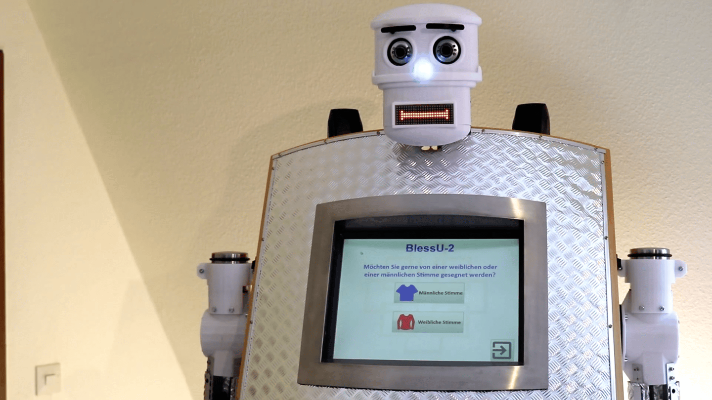 The robot priest is part of an exhibition taking place at the Evangelical Church in Hesse and Nassau in the town of Wittenberg, Germany