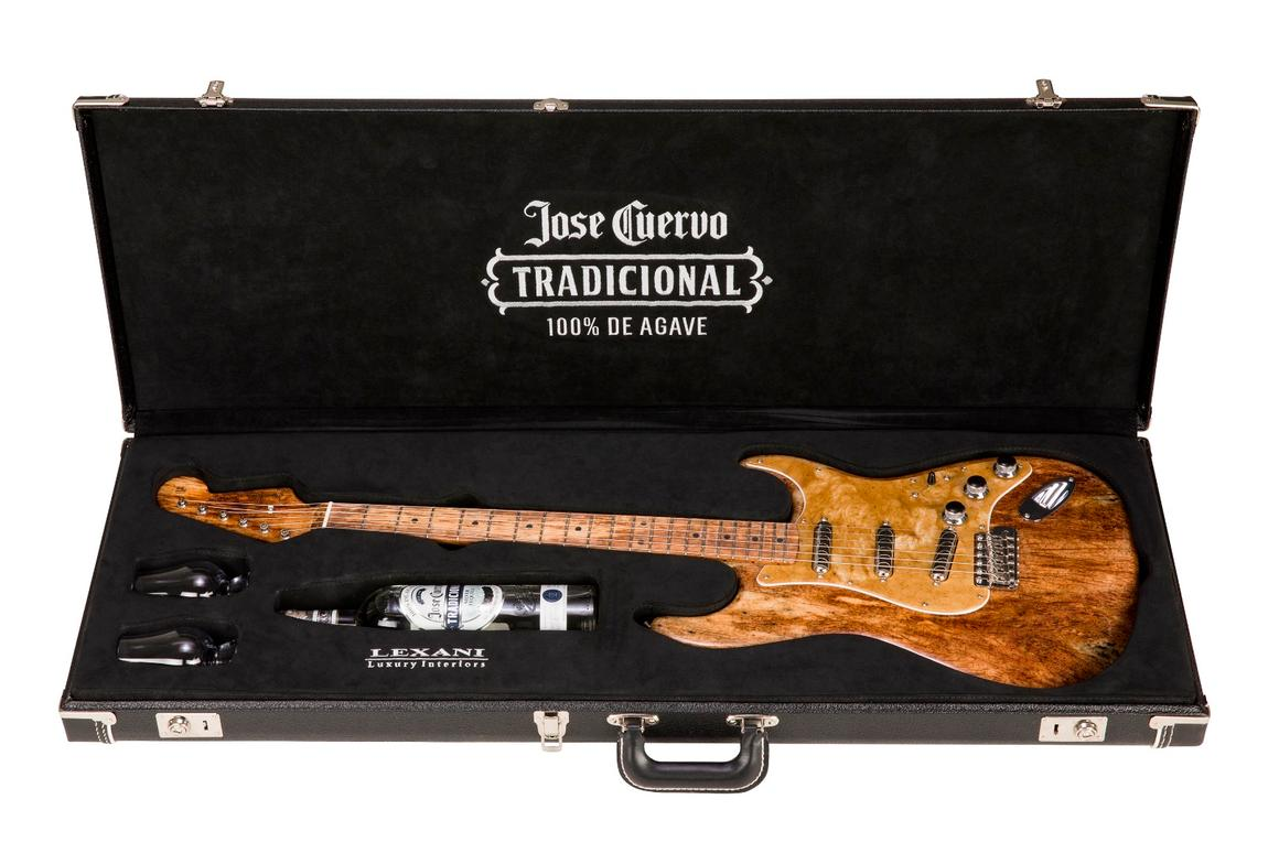 The body, neck and fingerboard of this special edition Custom Shop Stratocaster are fashioned from agave