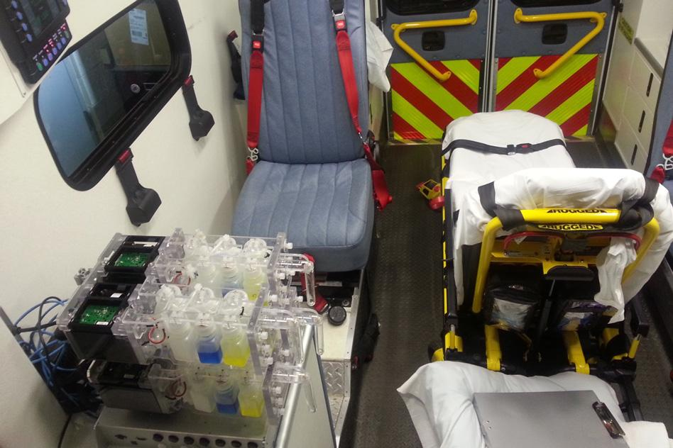 The portability of the device makes it useful for producing drugs in remote areas and even inside ambulances