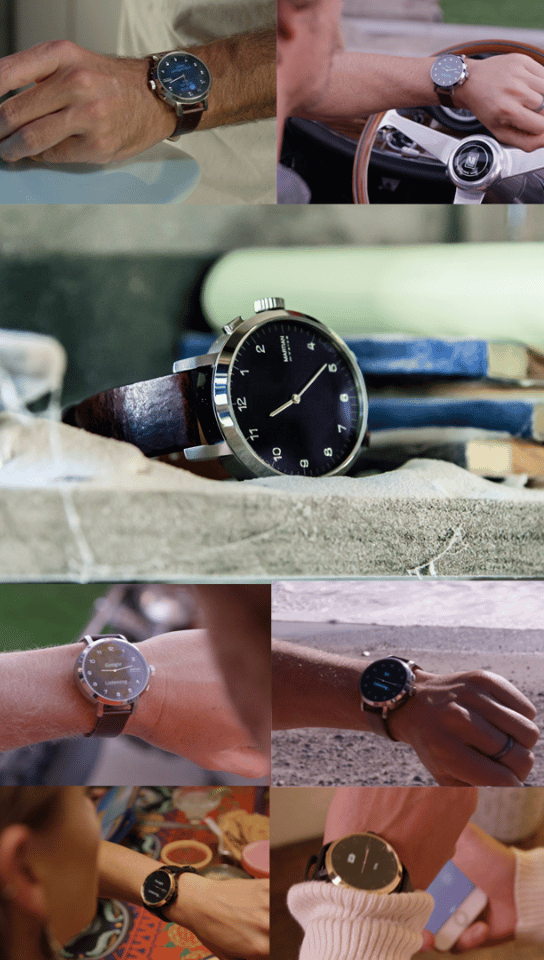 The mVoice G2 smartwatch comes in a variety of styles