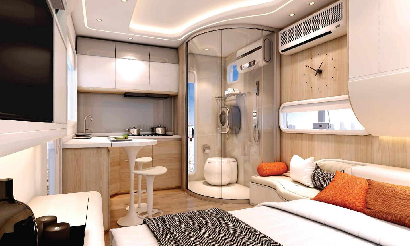 Cube One is a prefabricated single room home that is ready to move-in from delivery