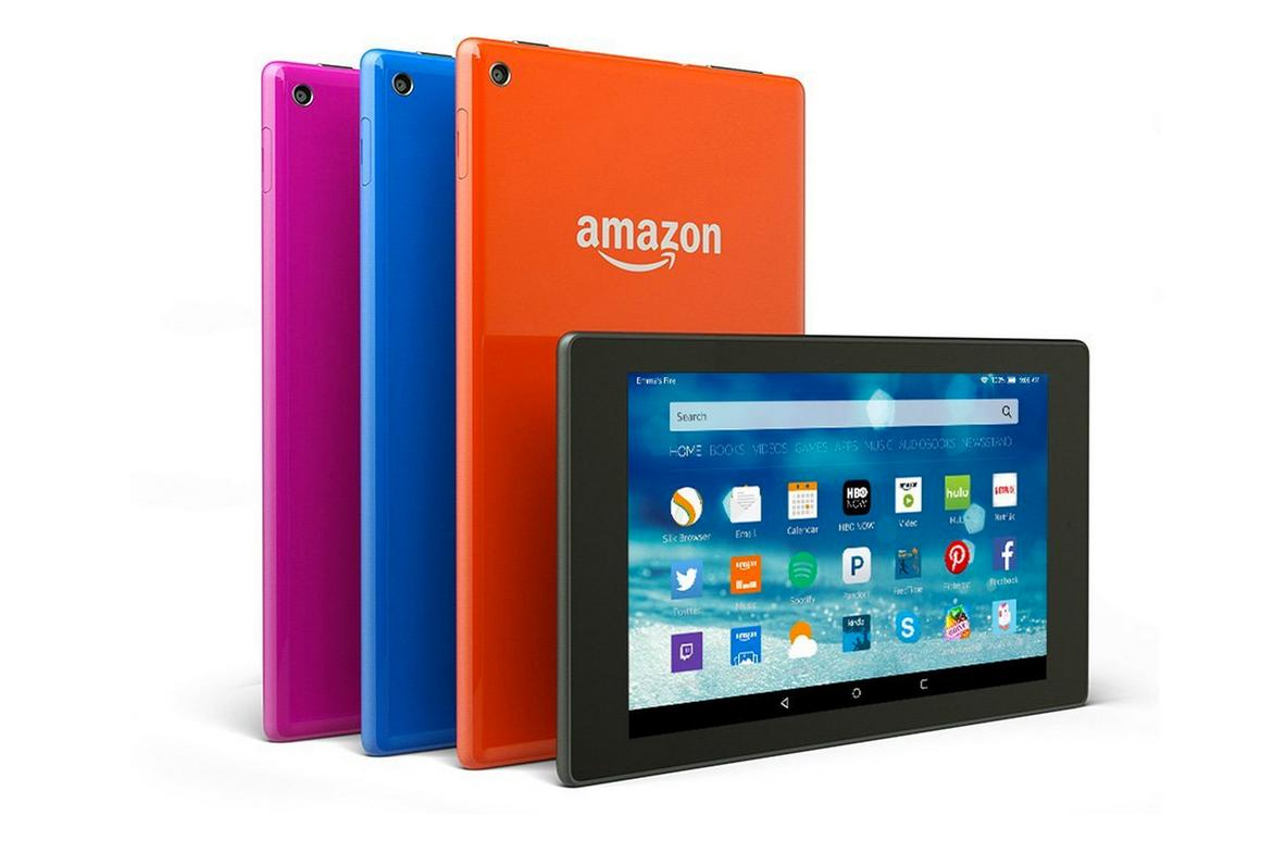 The Amazon Fire HD 10 and 8 (pictured) bring updated software and a range of new features