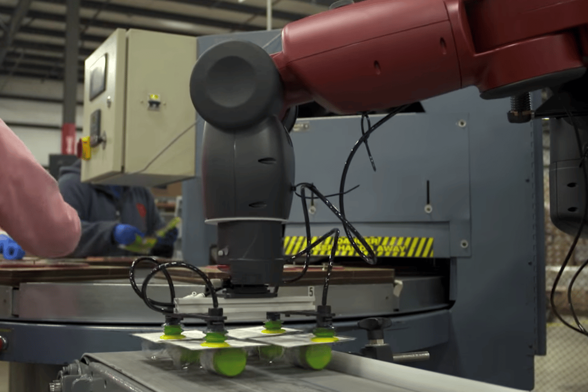The Robot Positioning System allows the Baxter robot to work in a human/robot mixed environment