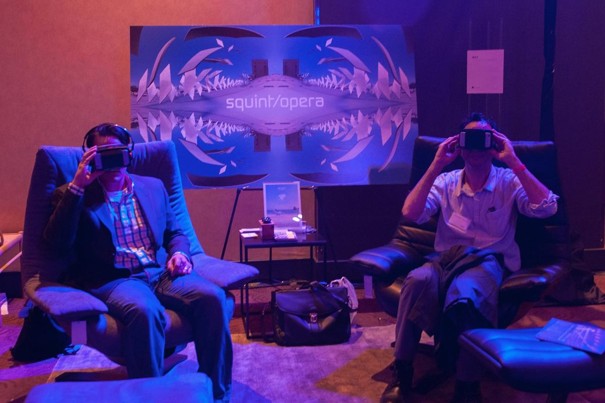 Attendees at this year's Architecture and Design Film Festival were given the opportunity to watch short films using VR headsets, and see design changes in real time via a HoloLens-based system