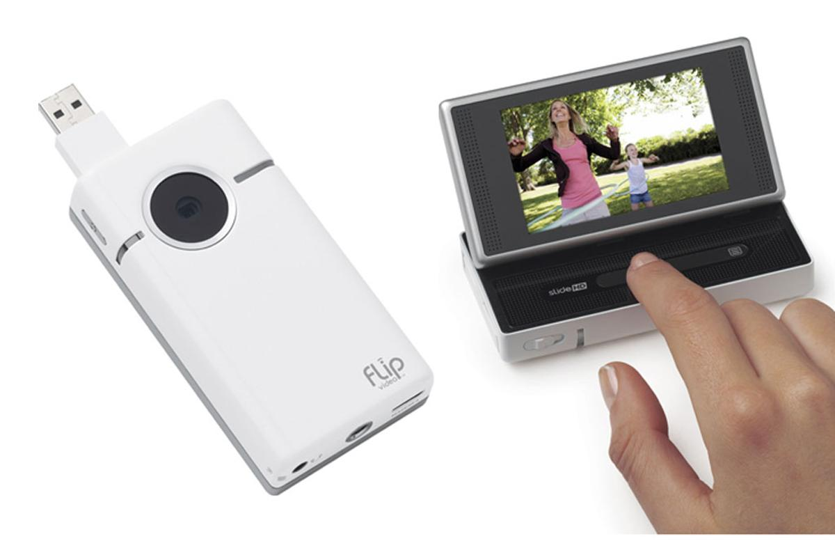 Flip SlideHD gets more viewing real estate via a touch-enabled 3-inch widescreen