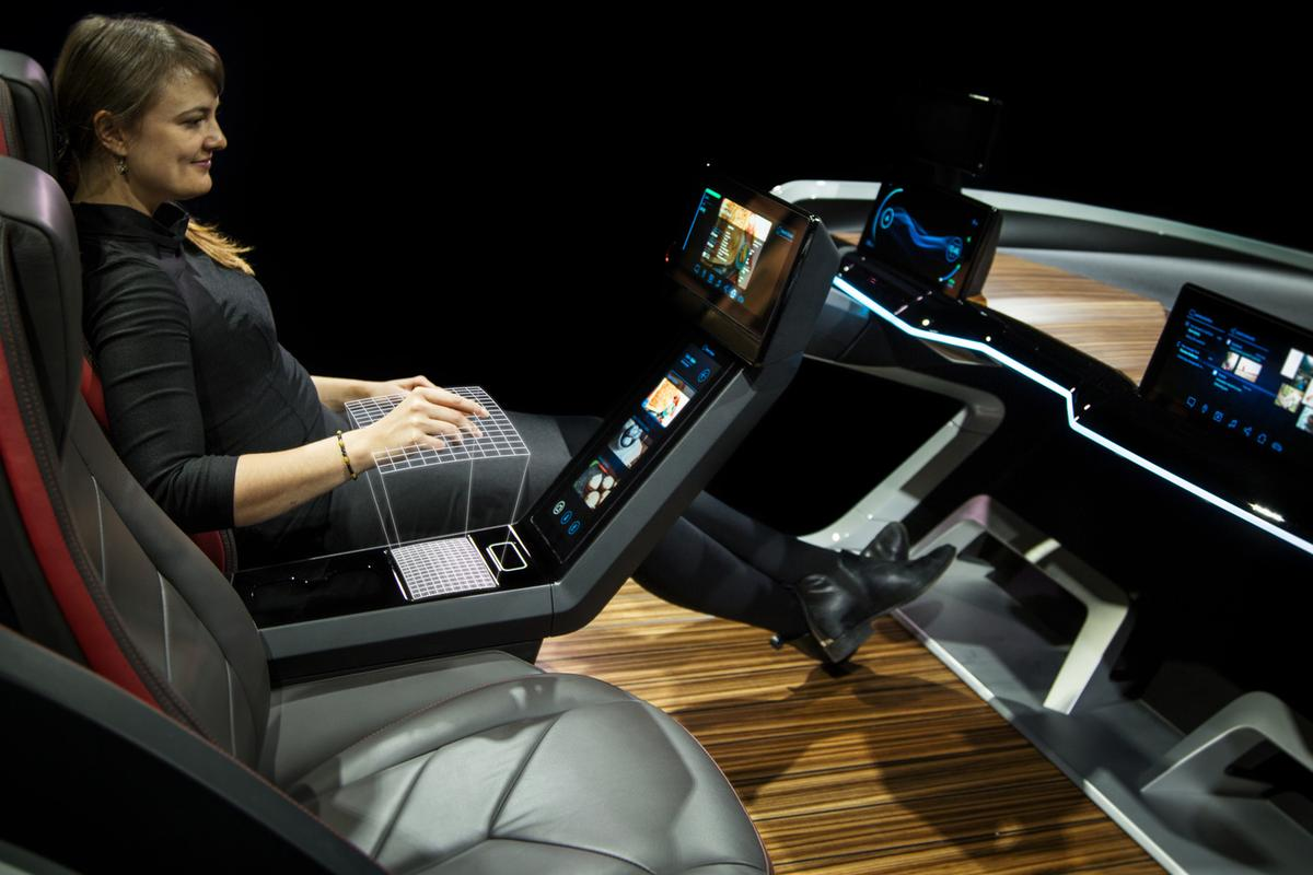 Bosch's 2017 concept features screens all over, just like last year