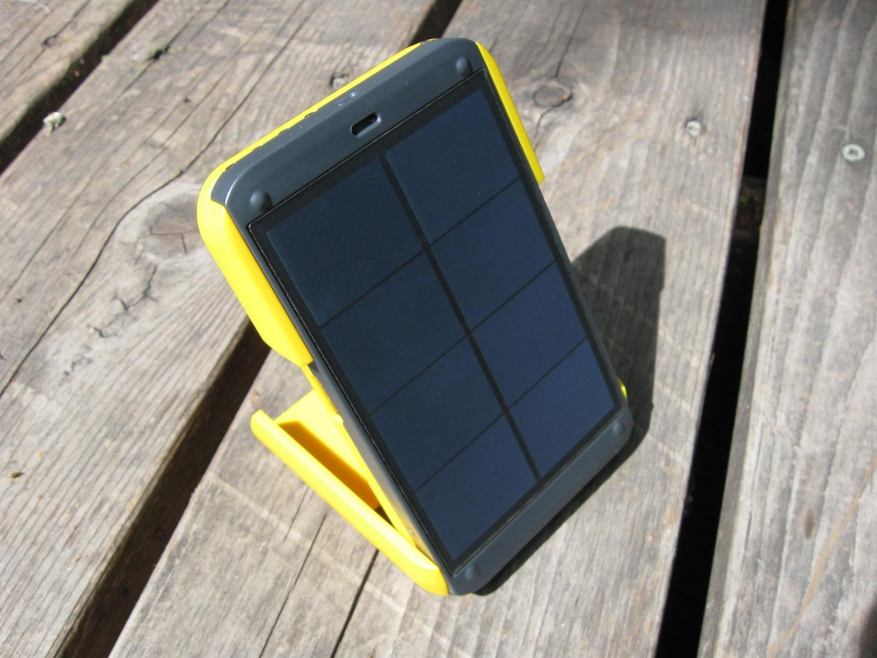 The Waka Waka Power's Sunpower solar cell has an efficiency rating of 22 percent