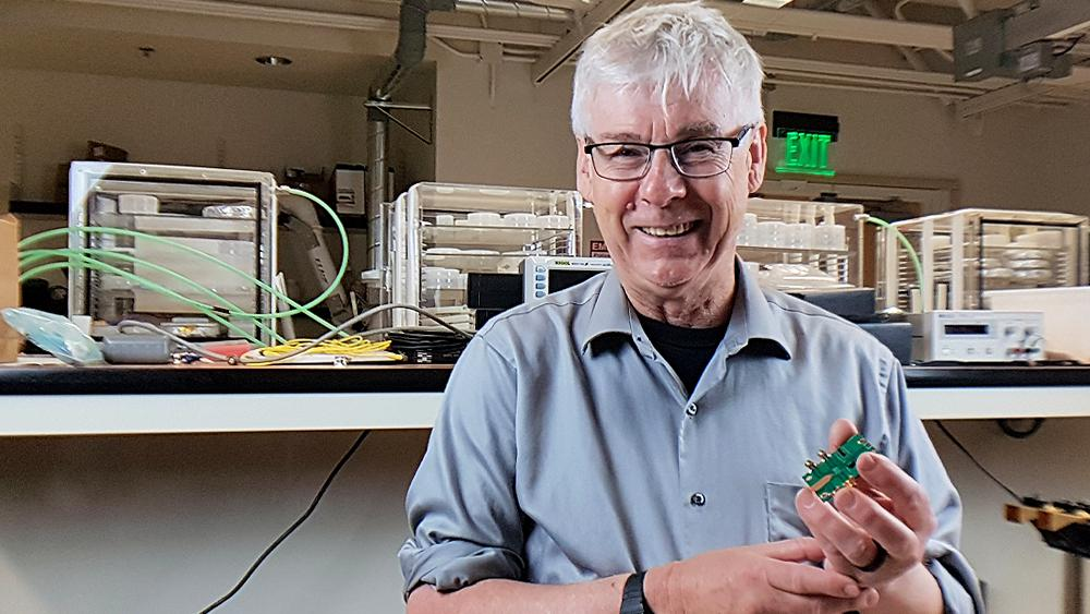 Professor Mark Rodwell of UCSB, one of the researchers on the team responsible for the 6G prototype system