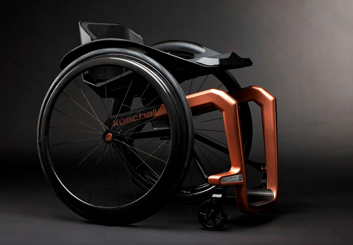 The Superstar's is reckoned to be lighter and tougher than classic carbon-fiber-based wheelchairs