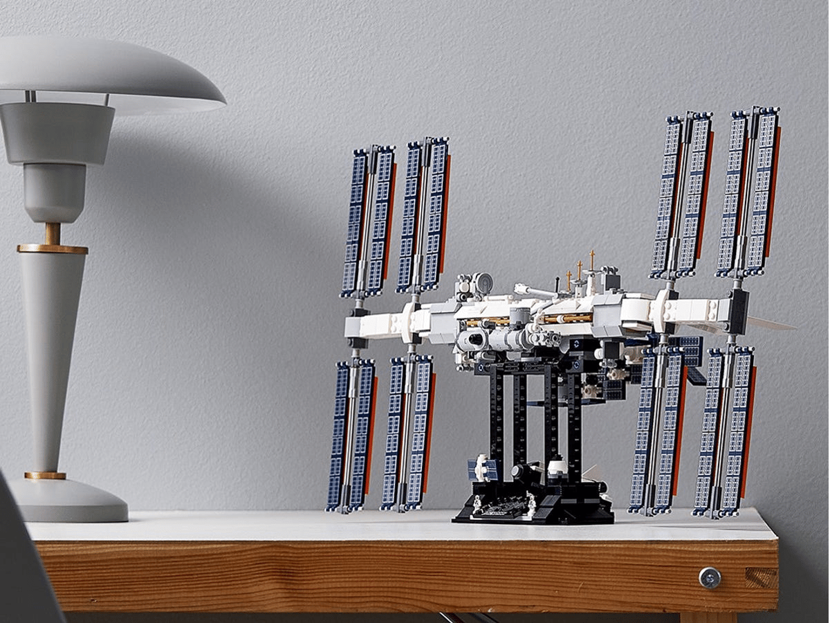 The International Space Station set is designed to inspire space enthusiasts young and old