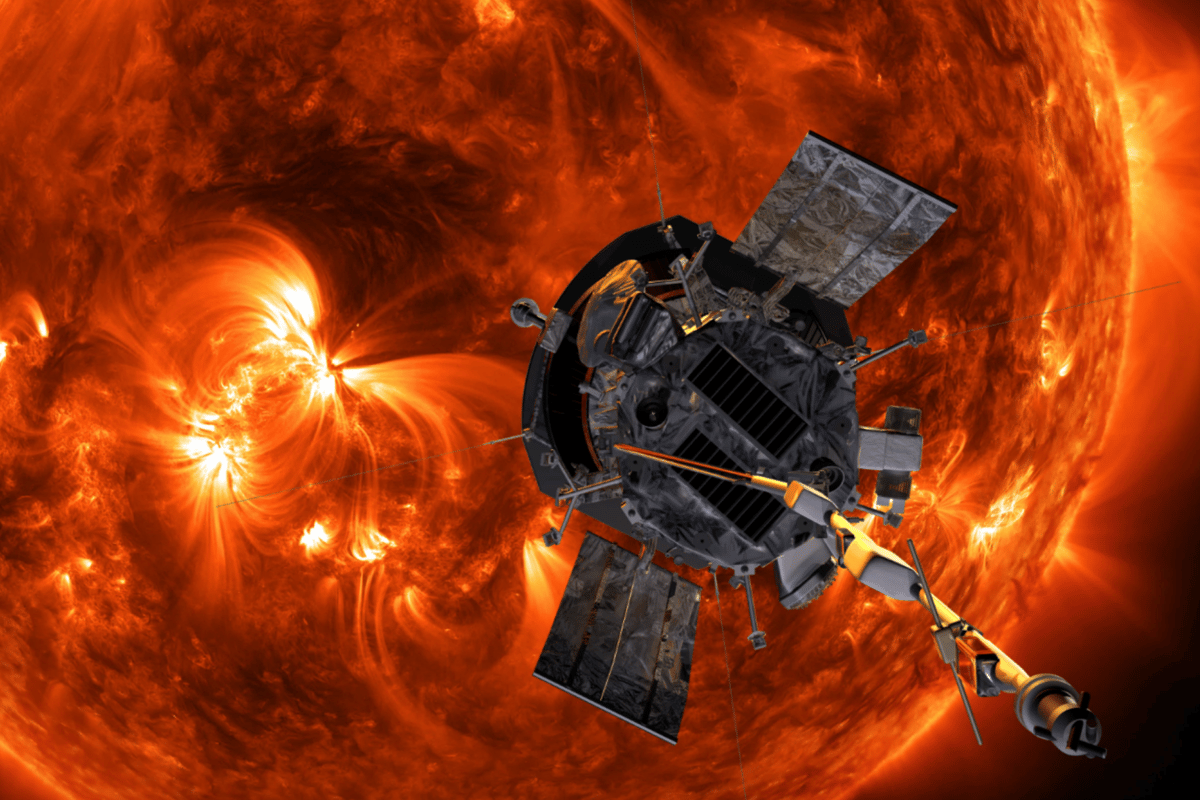 Artist's impression of the Parker Solar Probe on approach to the Sun