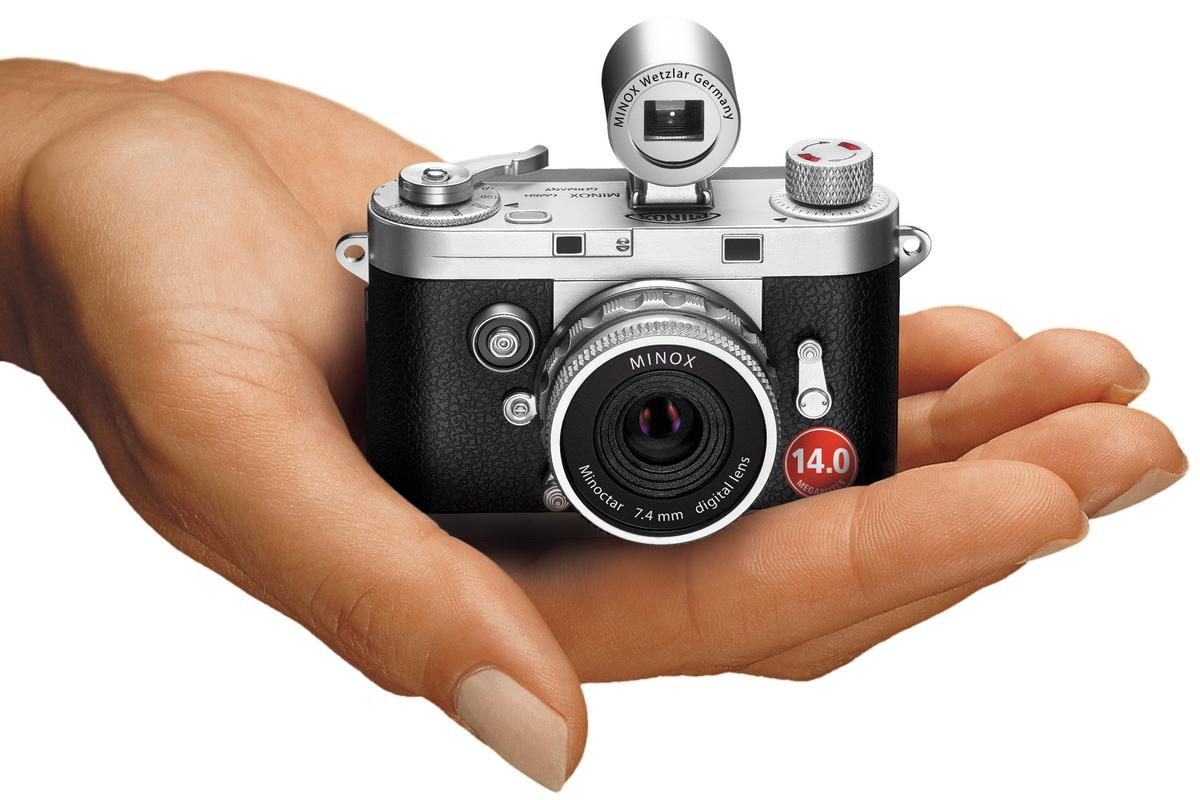 The miniaturized Minox DCC 14.0 can fit in the palm of your hand