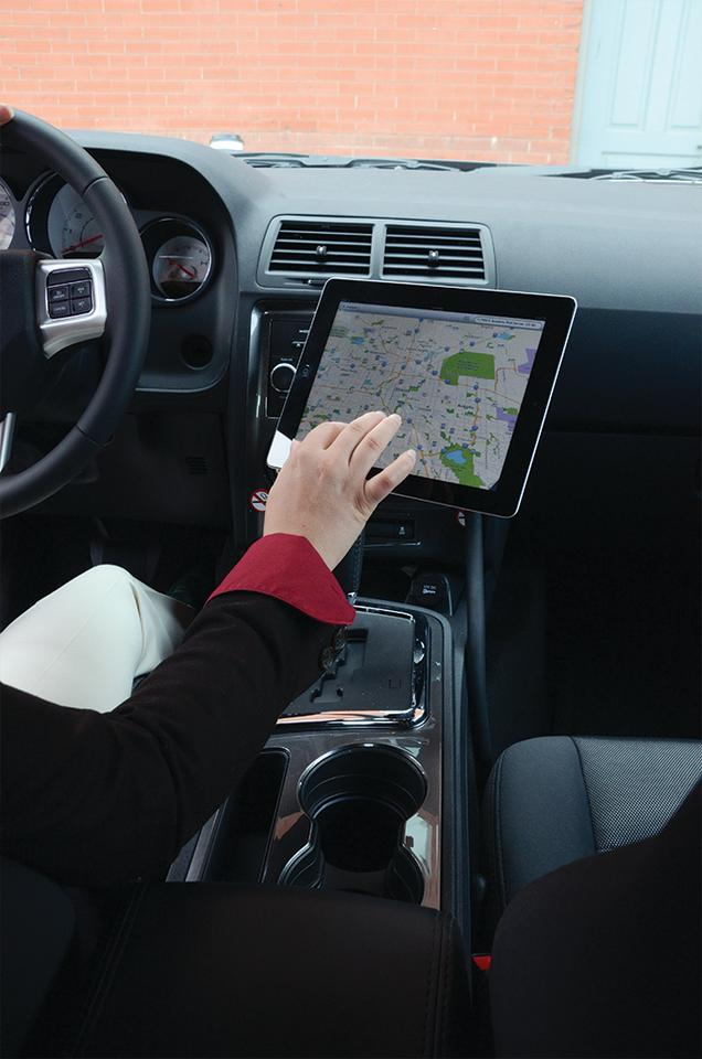 The Monkey Kit from Octa being used in a car