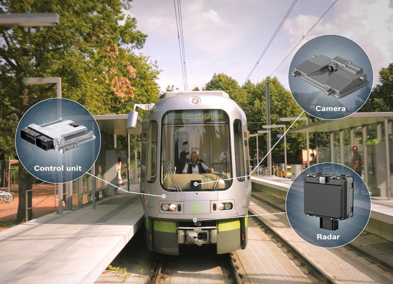 Bosch Engineering adapted the tram system from its automotive technology, which has been in production for some time