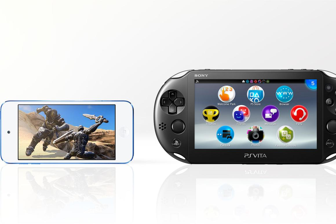 Gizmag compares the features and specs of the 2015 iPod touch (left) and Sony PS Vita (PCH-2000)