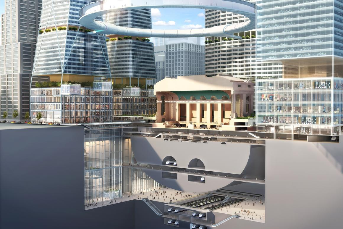 "The ""UFO"" viewing platform of SOM's Grand Central Terminal of tomorrow (Image: © 2012 SOM/Crystal)"