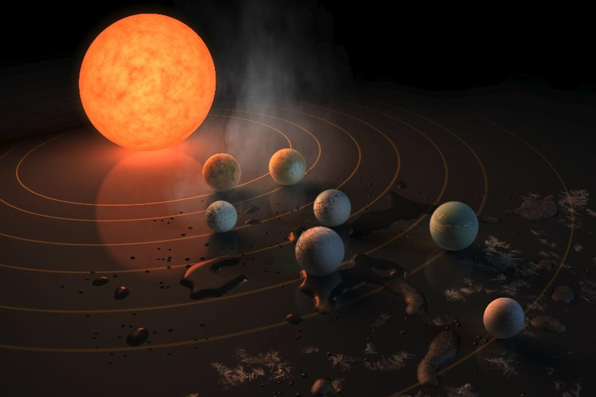 New research suggests that life could jump from one planet to another in the closely-packed TRAPPIST system in as little as 10 years