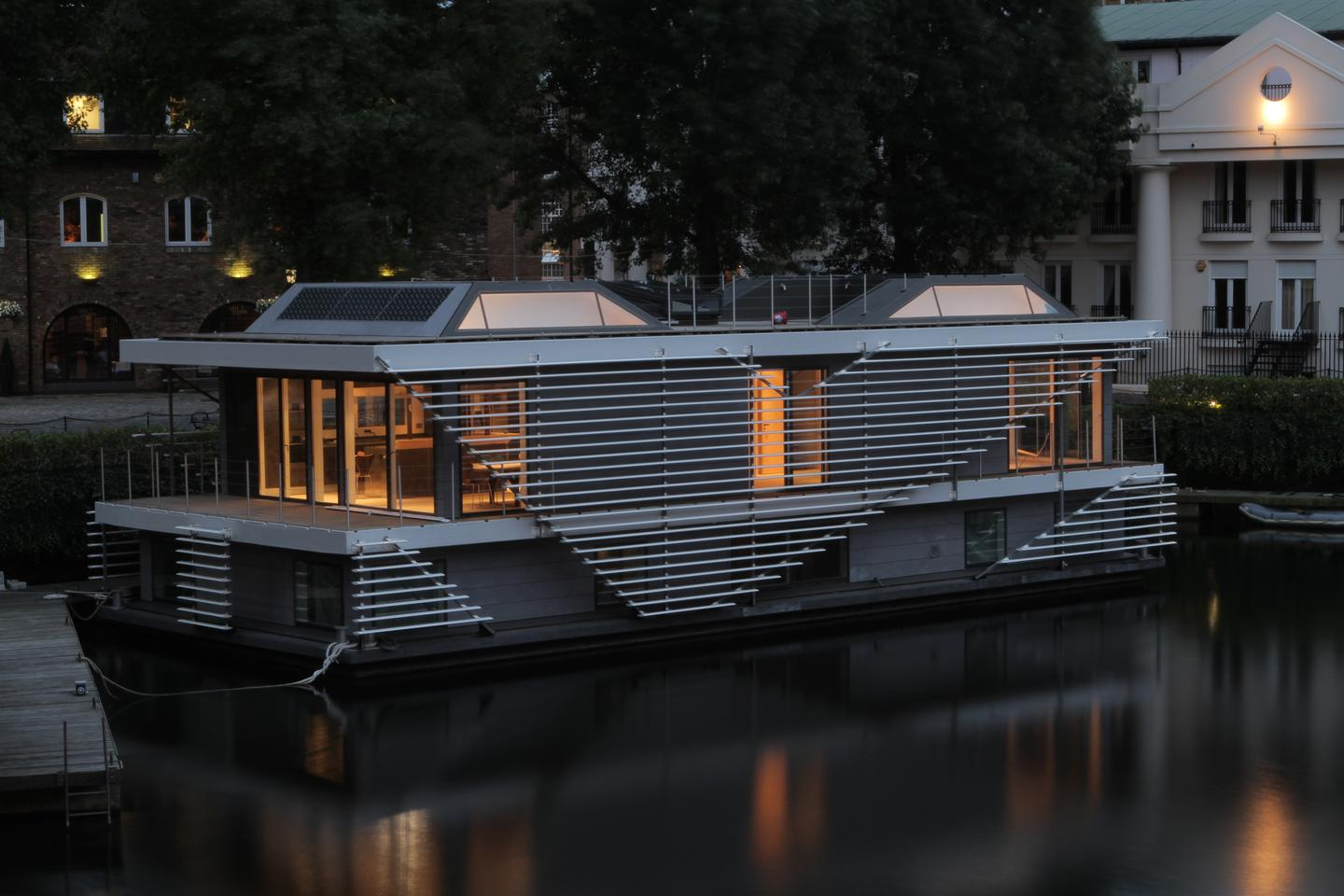London based Sanitov Studio launched its stylish and sustainable floating home during the London Design Festival