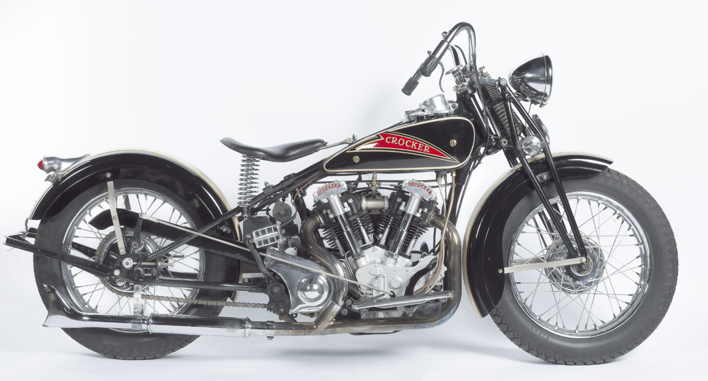 """Assembled by theWheels Through Time Transportation Museumin North Carolina, this 1936 """"Hemi Head"""" Crocker has engine number 36 61 8 (number #8), makes it the earliest example ever offered at public auction."""
