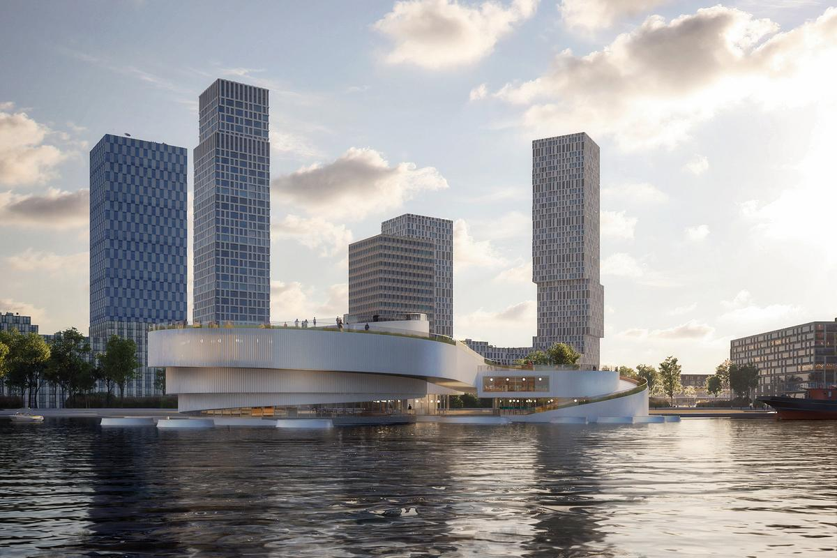 Part of the Maritime Center Rotterdam will underwater and some of the building will be revealed during low tide