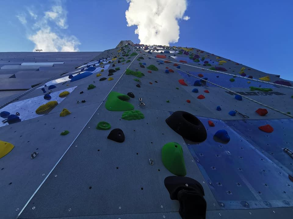 The routes have now been completed on the CopenHill climbing wall