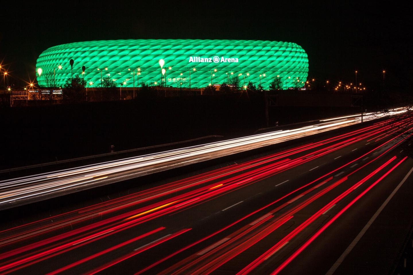 The LED façade can produce 16 million colors