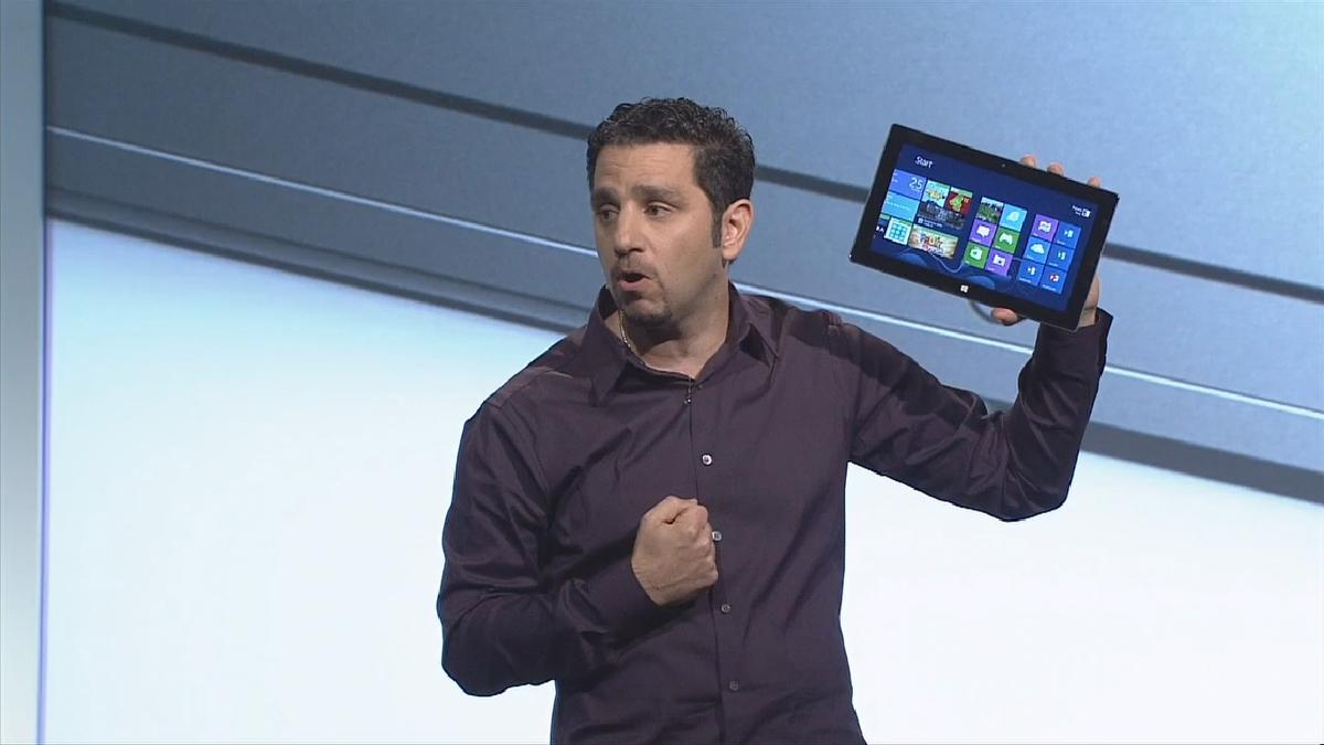 The Microsoft team performed a potentially risky drop-test during the presentation